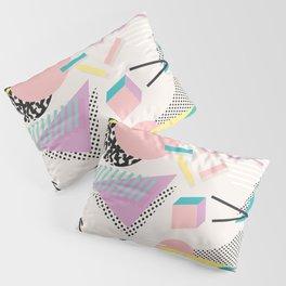 Memphis Design Inspired Pattern Pillow Sham