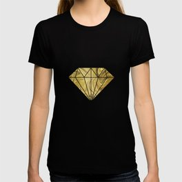 Rich Gold Shimmering Glamorous Luxury Marble T-shirt
