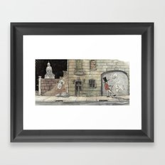 Night Stroll Through Paris Framed Art Print