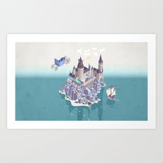 Hogwarts series (year 4: the Goblet of Fire) Art Print
