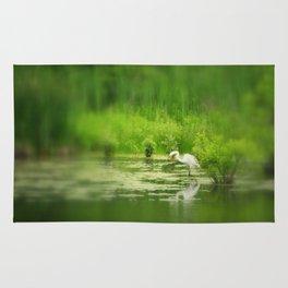 Marsh Egret 2 Rug