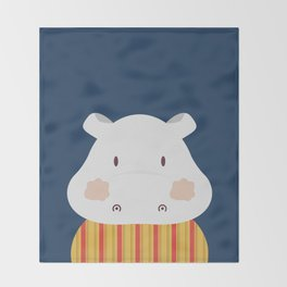 Hipolito Hippo Throw Blanket