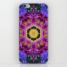 Floral finery - vivid kaleidoscope 20170321_135334 e k1 iPhone Skin