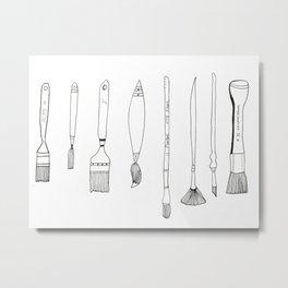 Paint Brush Illustration  Metal Print