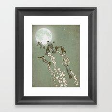 Flight of the Salary Men Framed Art Print