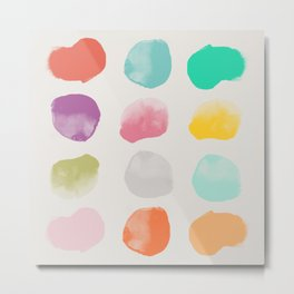 Colored Dots Metal Print