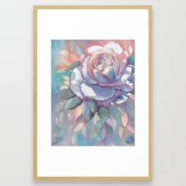 Watercolor Rose Framed Art Print