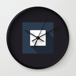 "Dice ""four"" with long shadow in new modern flat design Wall Clock"