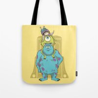 monster inc Tote Bags featuring Monster Inc. by Fathi