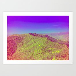 Rough Fire Line - Multispectral Art Print