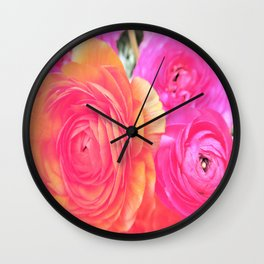 wonderful pink flowers Wall Clock
