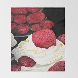 Strawberry Dream Throw Blanket