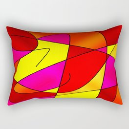 ABSTRACT CURVES #2 (Reds, Oranges, Yellow & Fuchsias) Rectangular Pillow