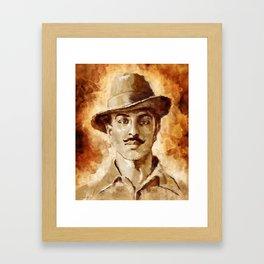 Shaheed-E-Azam Bhagat Singh Framed Art Print