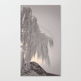 Weeping Willow /ˈvɒksɛl/ Diptych Right Canvas Print