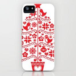 arvore de natal iPhone Case