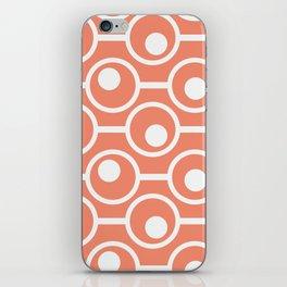 INSIDE CIRCLES ORANGE iPhone Skin