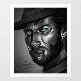 Clint Eastwood Fan Art Art Print