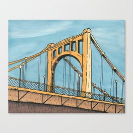 Roberto Clemente Bridge - Pittsburgh Canvas Print