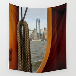 Freedom Tower through The Boat Wall Tapestry