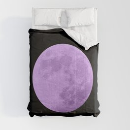 LAVENDER MOON // BLACK SKY Comforters