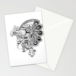 Mayan Warrior Stationery Cards