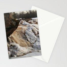 Wintry Bonanza Falls  Stationery Cards