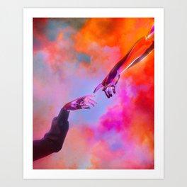 La Création d'Adam - Dorian Legret x AEFORIA Art Print