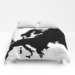 map of Europe Comforters