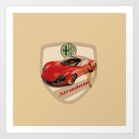 Vintage Alfa Romeo Badge Art Print