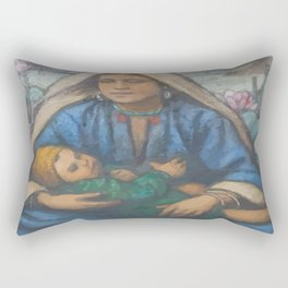 Mother and Child Rectangular Pillow