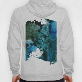 Scenic Route: a pretty, minimal abstract piece in blue and green by Alyssa Hamilton Art Hoody