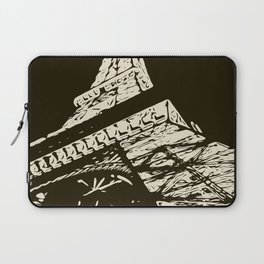 Eiffel Tower, Paris in black and white Laptop Sleeve