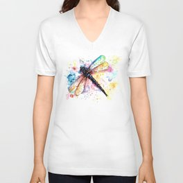 Dragonfly - Colors of summer Unisex V-Neck