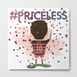 Messi Priceless Metal Print