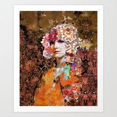 Rose. Black Art Print
