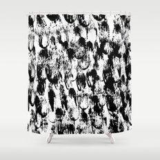 Black Pattern#3 Shower Curtain