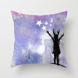 stardust (staggirl 5.0) Throw Pillow