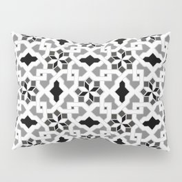 black and white -  Oriental design - orient  pattern - arabic style geometric mosaic Pillow Sham