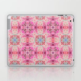 Pink Peach and Blue Pretty Gothic Stained Glass Tile Laptop & iPad Skin