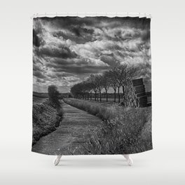 Trees at Beckets Bridge Shower Curtain