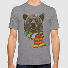 Winter Bear 2X-LARGE Mens Fitted Tee Tri-Grey