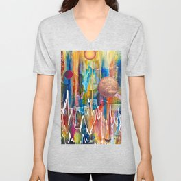 Utopian Dreamscape Unisex V-Neck