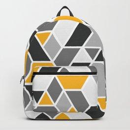 Abstract Geo - Yellow & Grey Rucksack
