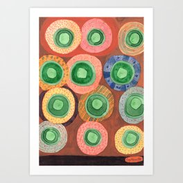The Green Core Combines Art Print