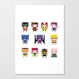 Pixel X-Men Canvas Print