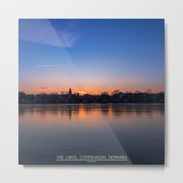 The Lakes, Copenhagen Metal Print