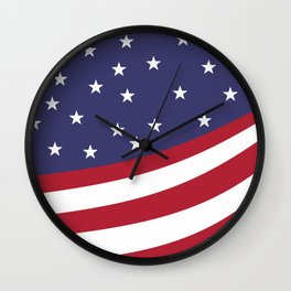 New American Flag Wall Clock