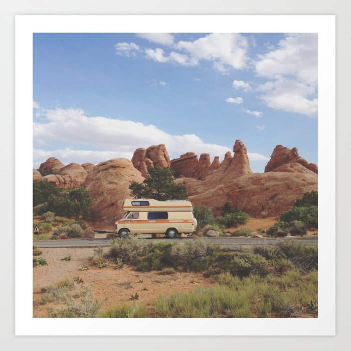 Rock Camper Art Print