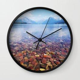 Lake McDonald Wall Clock